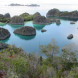Piaynemo – a cluster of 150-million-year-old limestone islands immersed in the clear blue water.
