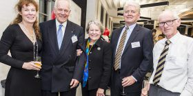 Liz Ashby, Brian and Diane, Andy Rybolt and Professor Robin Stanton