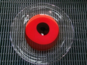 """Red Poppy"" award crafted in glass by Annette Blair"