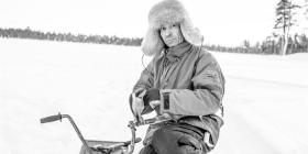 Parisa Applegarth's image of a Sami man in Lapland.