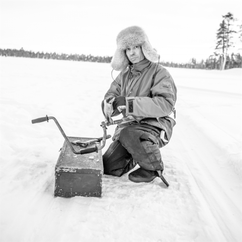 Parisa Applegarth's image of a Sami man in Lapland.