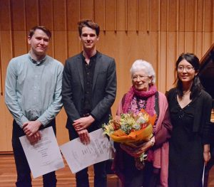 L to R, Strathdee, Henshaw, Ms Roach and Huang, photo Peter Hislop