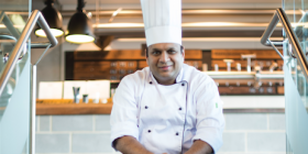 """Winning chef Nikhil Jain… """"You can't do it on your own.""""    Chef Jain's """"Deer Footprint""""... venison with """"soil"""" made from dry bread and deer sauce."""