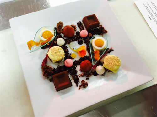 "The winning chef's ""surprise dessert""."