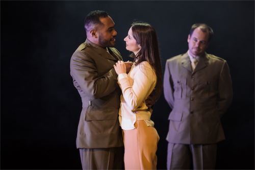 """Ray Chong Nee and Elizabeth Nabben in """"Othello"""". Photo by Daniel Boud"""