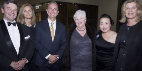 Peter Cursley, Di Soutter, Leader of the Opposition Jeremy Hanson, Vicki Dunne, Elizabeth Lee and Fleur Hanson