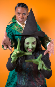 "Singing dad and daughter, Steve and Kirrah Amosa… a perfect match of talents for ""Wicked"". Photo by Andrew Campbell"