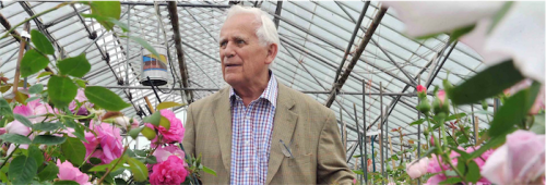 One the world's most famous rosarians, David Austin.