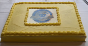 Magazine birthday cake