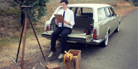 """Miles Harrison as Oliver in """"The Surveyors""""."""