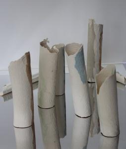 Yates Trish Forest Ghosts installation paper mache clay 2016