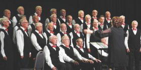 The Kiama Men's Probus Choir under the direction of music director Wendy Leatheam.