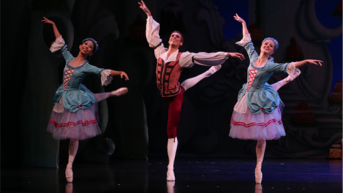 """The Nutcracker"" dancers, from left, Lina Kim, Alec Roberts and Tamara Hanton. Photo by David Kelly"