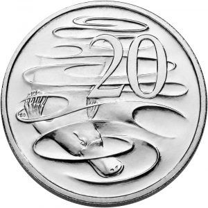20 cent coin featuring the platypus