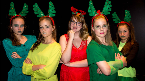 the night before christmas cast members from left gabby stewart charlotte - The Night Before Christmas Cast