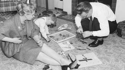 A Canberra family on Christmas morning, 1962.