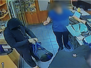 Video shows footy club robbery