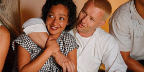 Joel Edgerton as Richard Loving and Ruth Negga as his wife Mildred.