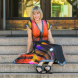 """Yumi Morrissey, wearing the Radiance dress from her Illuminate collection... """"I like being able to show the beautiful things in Canberra in my designs."""" Photo by Maddie McGuigan"""