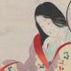 "Eisen Tomioka's (1864-1905), woodblock print ""Tsuma no kokoro"" (A wife's heart)."