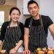 Sweet couple... Jasmine Seah and husband Alvin Kho. Photo by Maddie McGuigan