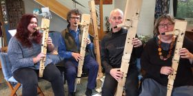 Part of the Walking the Dog recorder ensemble