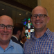 Happier days: Former director of artsACT David Whitney,l,  with Adam Stankevicius  r. Photo courtesy of Lyn Mills.