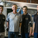 """Kerry Lloyd with sons Kyle, left, Matthew and Mitchell... """"It's great to be working with my sons here, they're keen and they're good."""" Photo by Maddie McGuigan"""