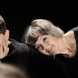 "Young and old… Jasper Kilby and Diane Sandeman in Canberra Youth Theatre's production""Verbatim""."