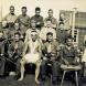 1943 photo shows Jack Woodward (holding violin, to right of Hirote - Maori boxer) and band at Gradnitz3