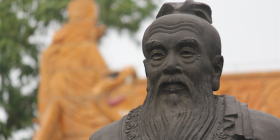 Confucius Sculpture, Nanjing at Confucian Temple Area (Fuzi Miao).  Photo by Kevin Smith