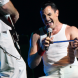 """Giles Taylor as Freddie Mercury… """"By the time Giles hits the stage with make-up and costume etcetera. people soon believe they're at a Queen concert,"""" says promoter Johnny van Grinsven."""