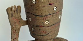 'Guardian,' stoneware by  Steve Roper