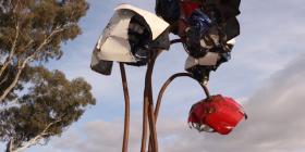 """The roadside sculpture """"Forgotten""""."""