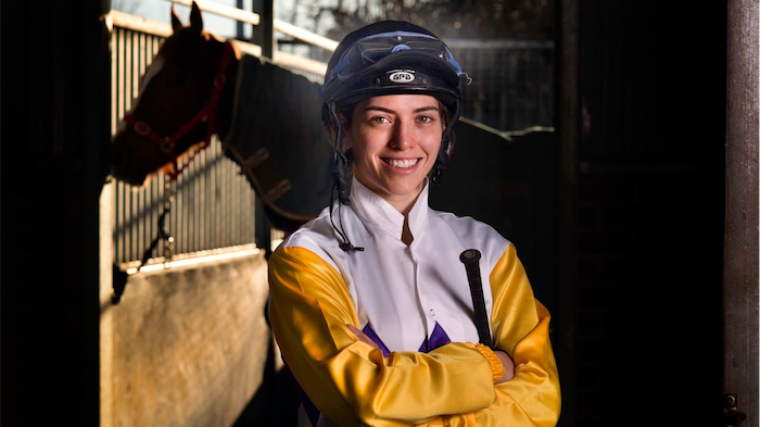 Jockey Kayla Nisbet. Photo by Andrew Campbell