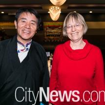 Lhakpa Tshoko and Caroline Le Couteur MLA