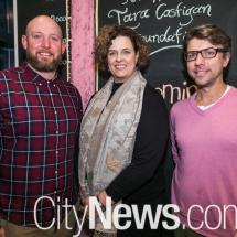 Nathan Costigan, Susan Blain and Damian Prendergast