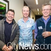 Rob Hunt, Dr Chris Roberts and Craig Wisdom