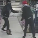 Two robbers have been caught on CCTV smashing the front glass door to the Woolworths Supermarket in Dunlop.
