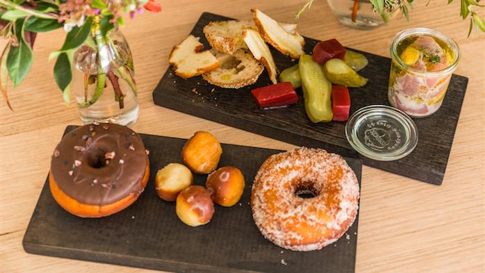 Tuna Dish and Assorted Doughnuts and Doughnut Holes (1)