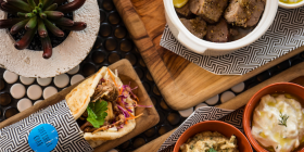 The dips were delish and came with an amazingly generous serve of pita bread.