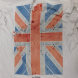 White Ben Sherman t-shirt with the Union Jack.