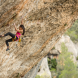 "Angie Scarth-Johnson scales new heights in Spain… ""Climbing is unique, it's out in nature, climbing rocks,"" she says. Photo The North Face /"