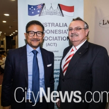 His Excellency Kristiarto Legowo and President of AIA ACT Les Boag