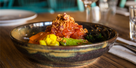 Highgate House's poke bowl… a superstar of a dish, $22 and add chicken, tuna, pork or halloumi. Photo by Maddie McGuigan