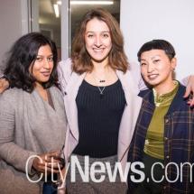 Vee Naidoo, Adele Lausberg and Anne He