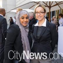 Asma Alyammahi and Laura Aoun