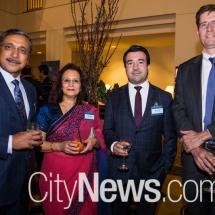 Deep and Rani Saini, Jason Duarte and Rob Fisher