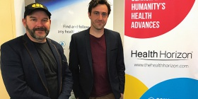 "Marcus Dawe, left, and Mathew McGann... ""We want to expose the innovations that can really improve people's lives and give them the information they need to make good health decisions."" Photo by Kathryn Vukovljak"