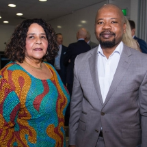 Her Excellency Beryl Rose Sisulu, High Commissioner of South Africa, and Sibusiso Shezi